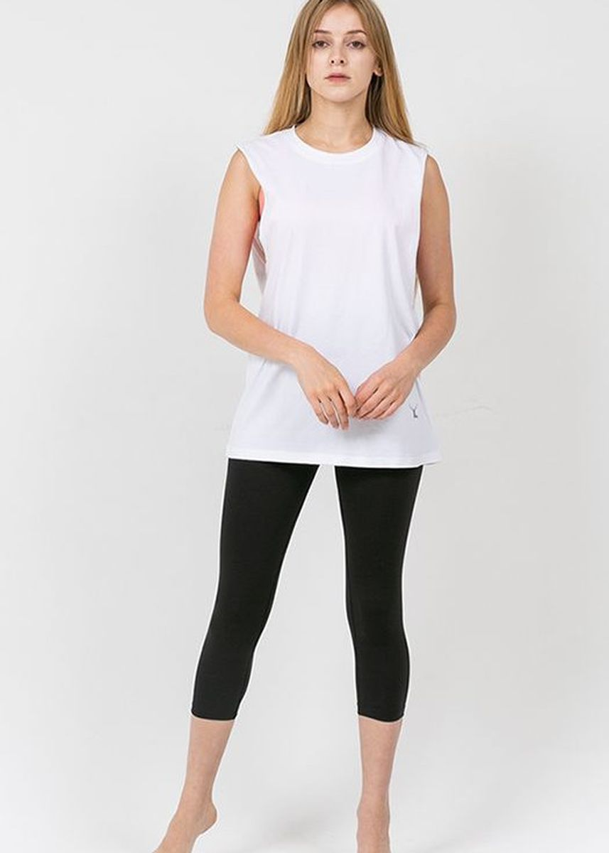Putih color Atasan & Tunik . Nokjok Breeze Sleeveless Top -