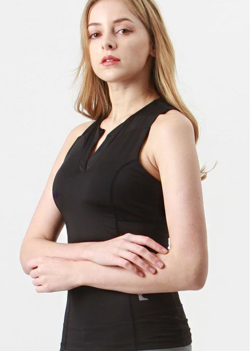 Black color Tops and Tunics . Nokjok Claire Sleeveless Top -