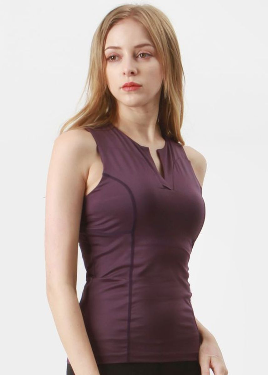 Purple color Tops and Tunics . Nokjok Claire Sleeveless Top -