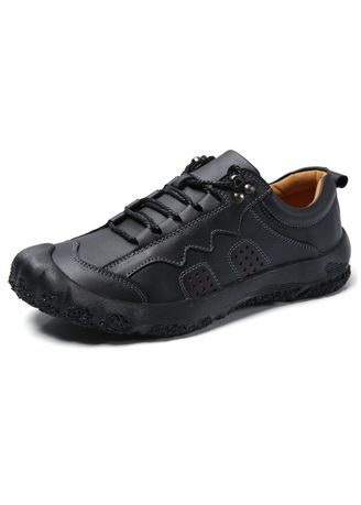 Black color Casual Shoes . Men's Hiking Casual Shoes -