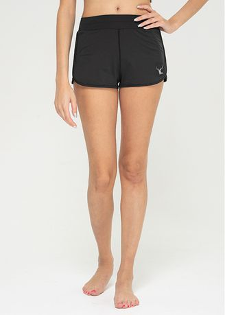 Black color Shorts . Nokjok Bijou Short Pants -