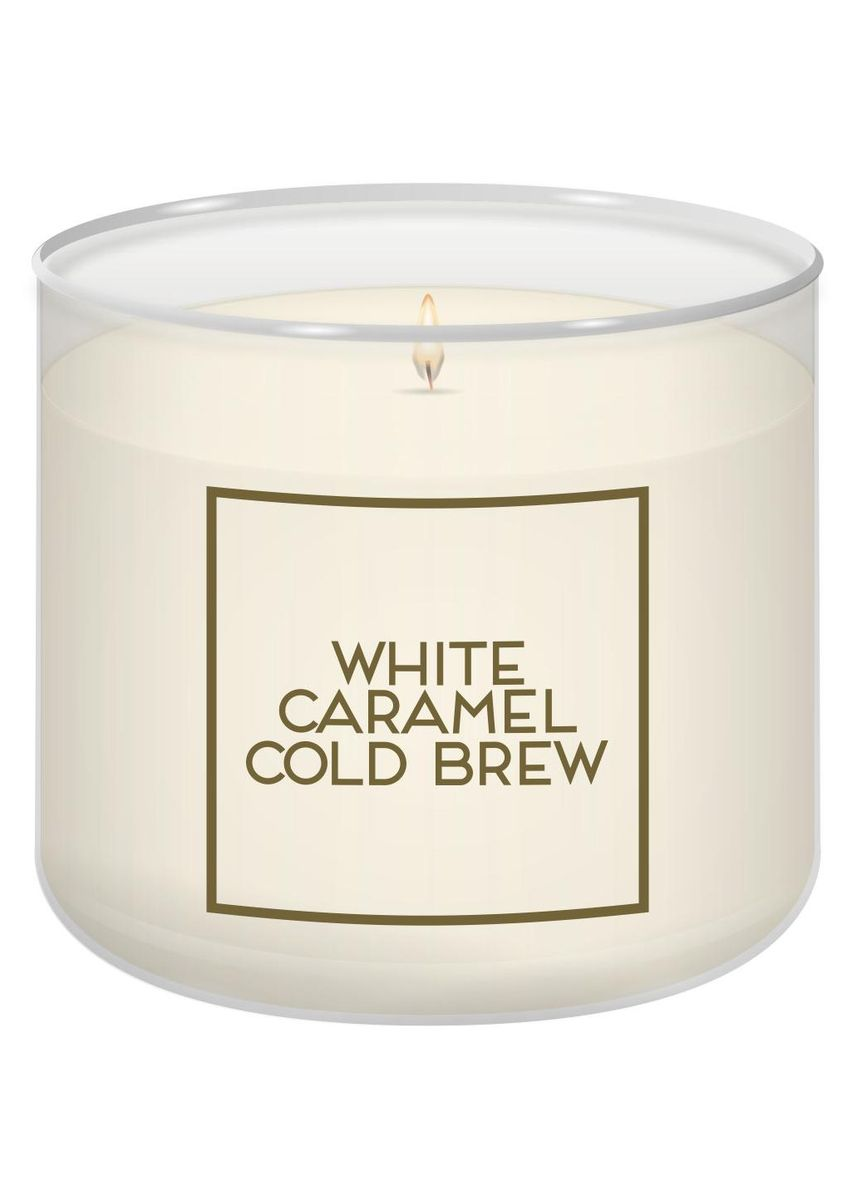 No Color color Home Decor . Bath And Body Works White Caramel Cold Brew Single Wick Scented Candle 113g -