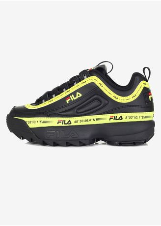 Black color Sports Shoes . FILA Unisex Disruptor2 Tape Tapey Fs1Htb3196X_Bbk -