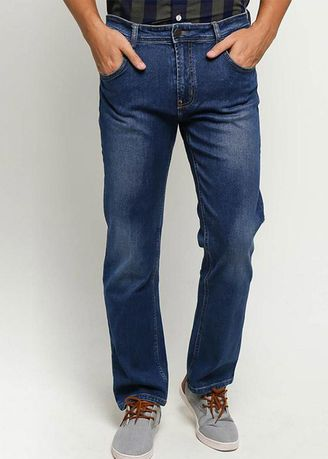 Navy color Jeans . EMBA JEANS-BS08.2 Men's Jeans in Heavy Stom -