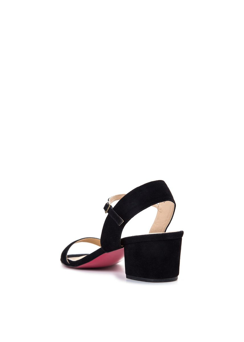 Black color Sandals and Slippers . Carmelletes Chunky Low Heeled Ankle Strap Sandals -