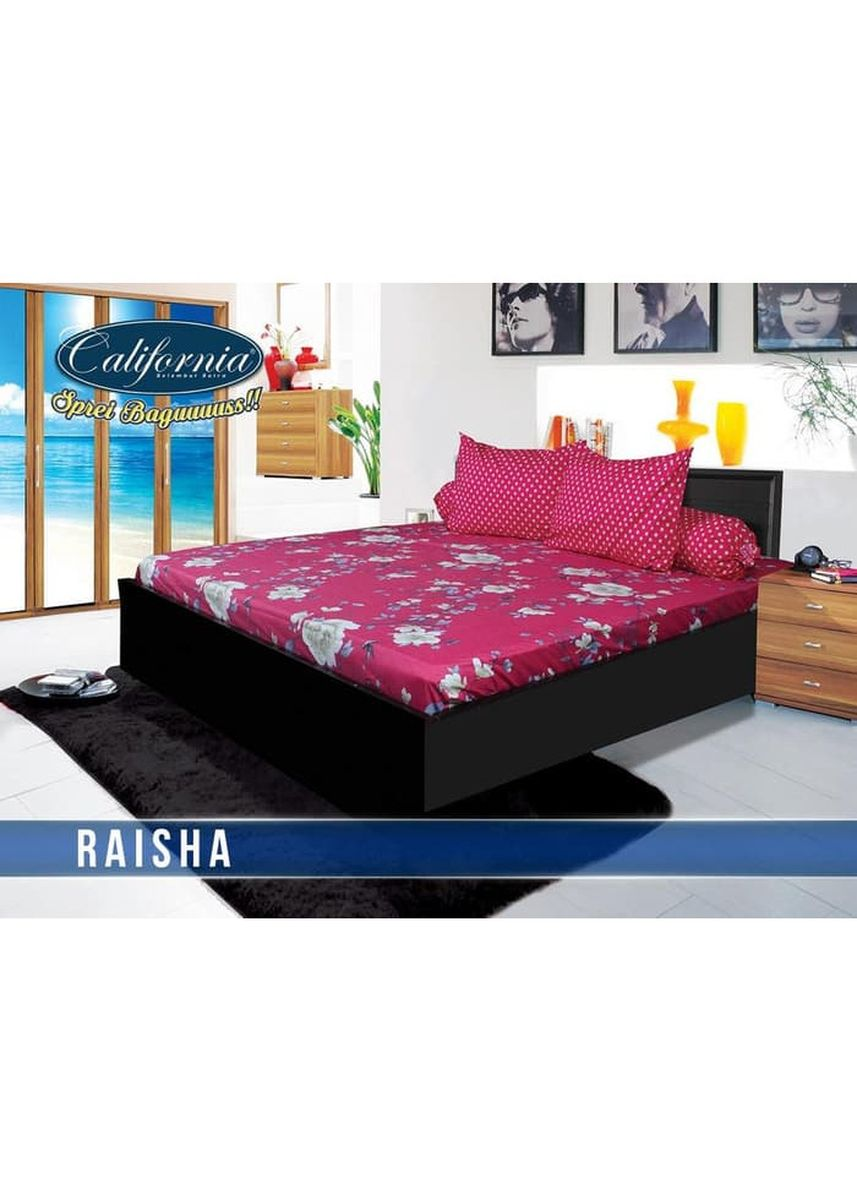 No Color color Bedroom . Sprei California 160x200 Motif Raisha Queen Size Ukuran Nomor 2 -