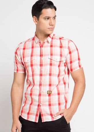 Orange color Casual Shirts . EMBA JEANS-Murdho Shirt in Orange -