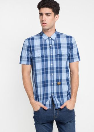 Blue color Casual Shirts . EMBA JEANS-Murdho Shirt in Blue -