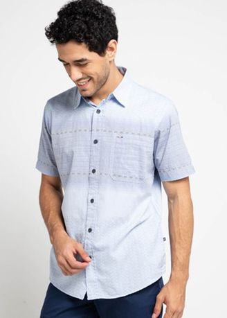 Blue color Casual Shirts . EMBA CLASSIC-Brizziline Men's Shirt in Blue -