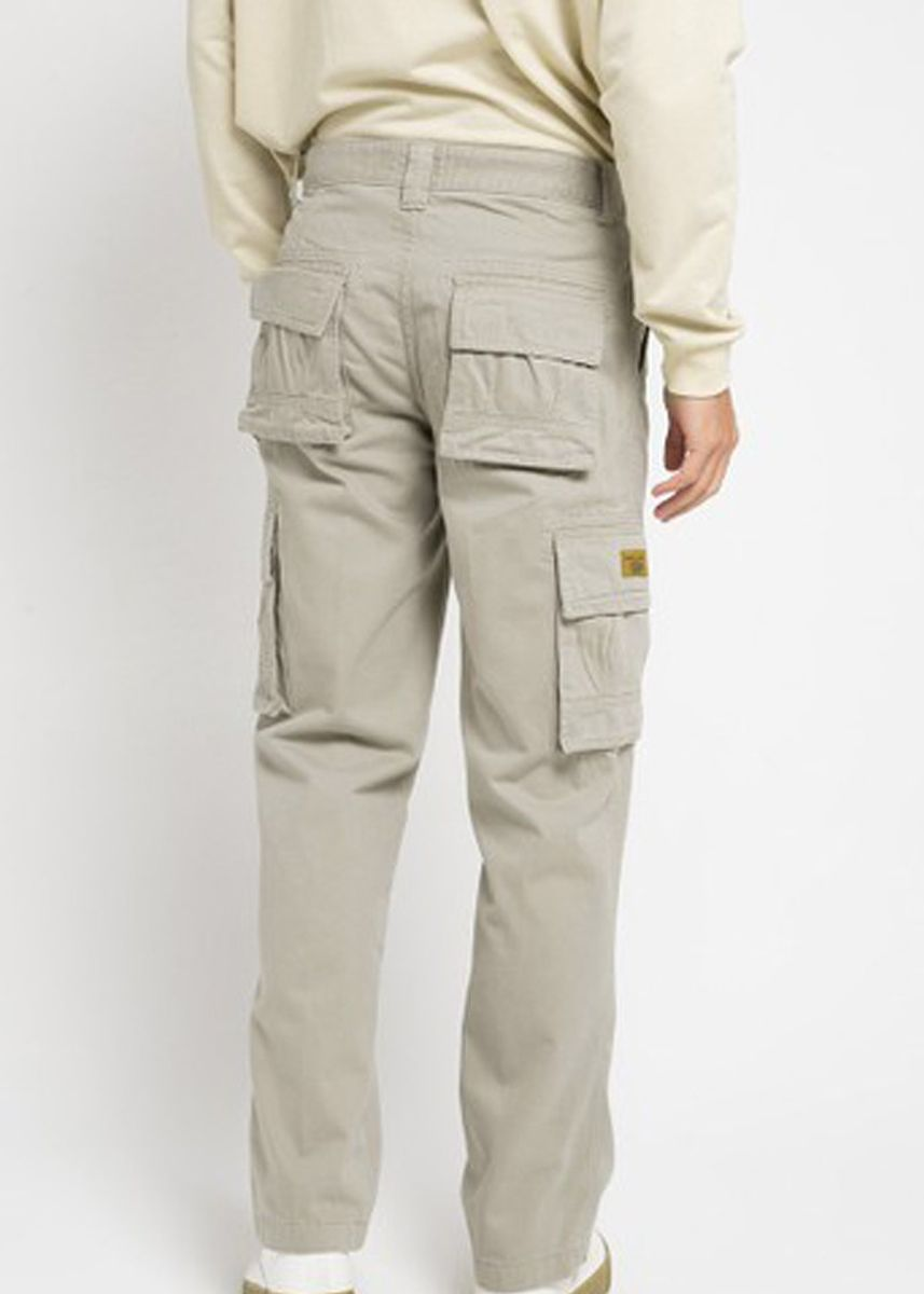 Khaki color Casual Trousers and Chinos . EMBA CLASSIC-Keano Cargo Pants in Khaki -