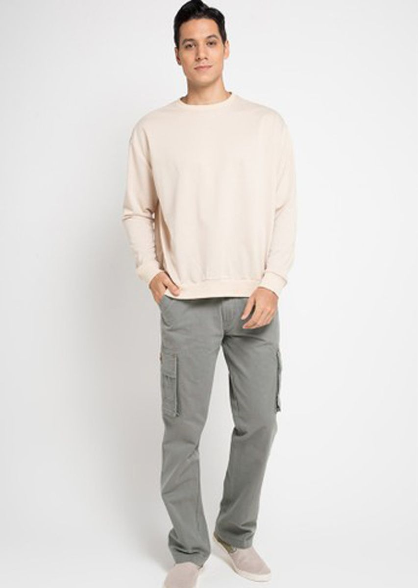 Grey color Casual Trousers and Chinos . EMBA CLASSIC-Keano Cargo Pant's in Dark Grey -