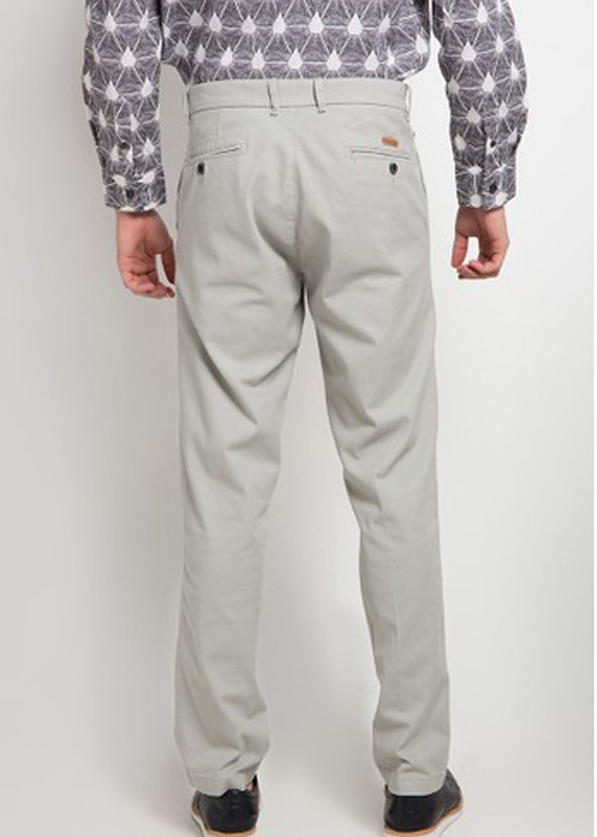 Abu-Abu color Celana Panjang Kasual . EMBA CLASSIC-Zeen Men's Pants in Grey -
