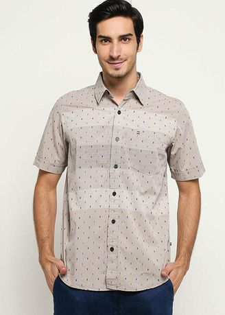 Brown color Casual Shirts . EMBA CLASSIC-Nixon 02 Two Shirt in Brown -