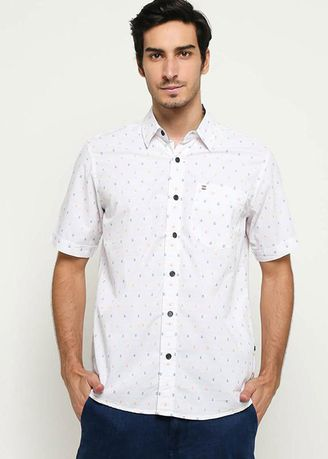 White color Casual Shirts . EMBA CLASSIC-Nixon Shirt in White -