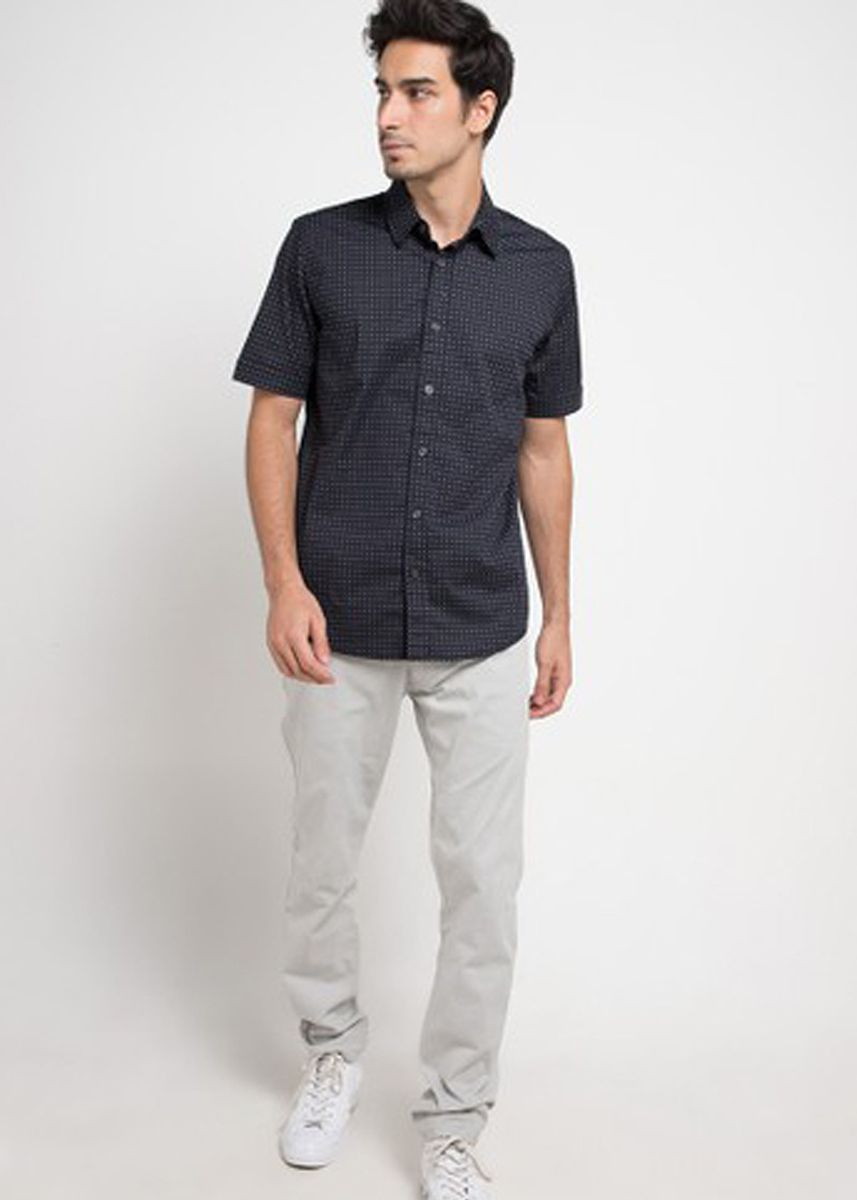 Black color Casual Shirts . EMBA CLASSIC-Nixon 02 Men's Shirt inBlack -