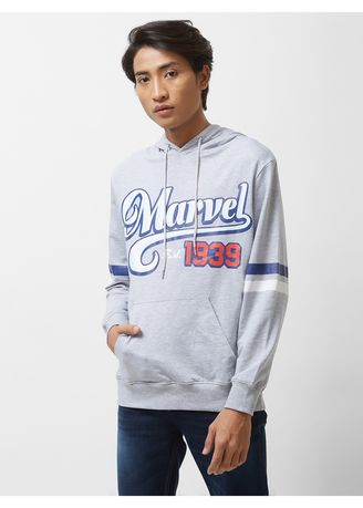 T-Shirts and Polos . Official MARVEL 80th 1939 Printed Hoodie with Kangaroo Pocket -