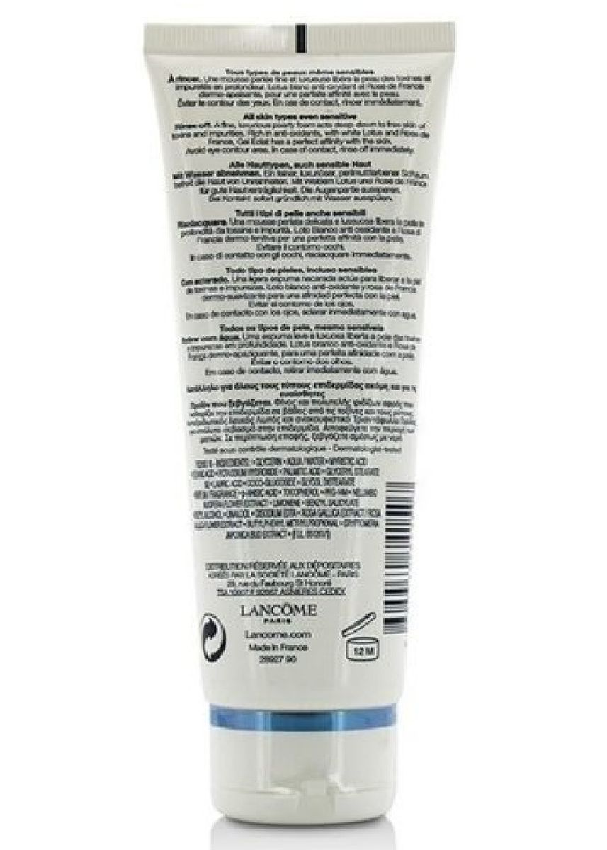 No Color color Toner & Cleanser . Lancome Gel Eclat Clarifying Cleanser Pearly Foam 125ml -