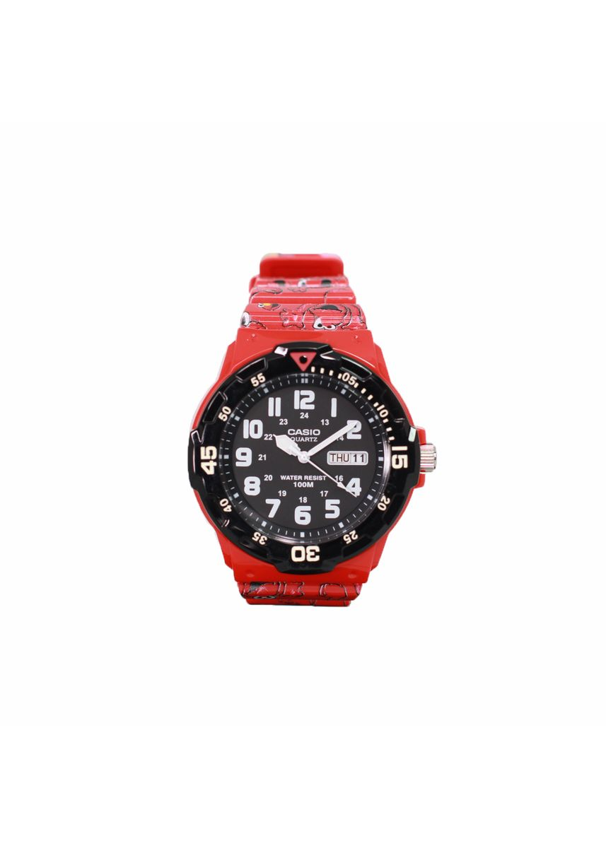 Red color Analog . Casio Quartz Men's Resin Analog Watch -