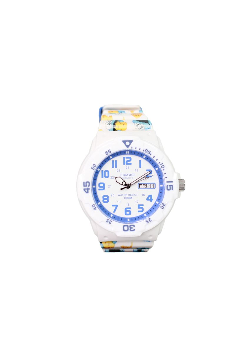 White color Analog . Casio Quartz Men's Resin Analog Watch -