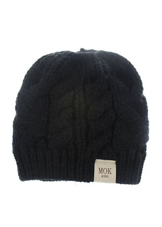 Black color Caps . And Winter Hat Children Knitted Acrylic Yarn Two-color Solid -