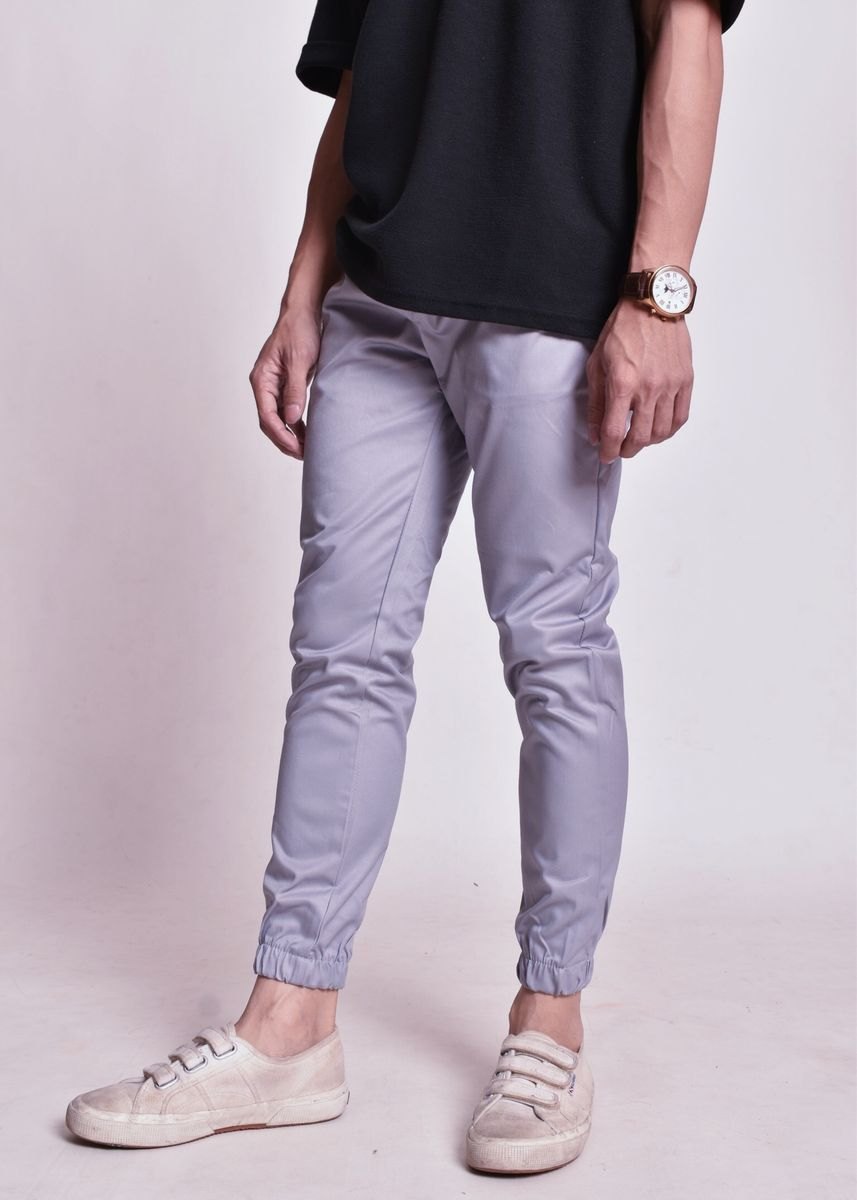 Violet color Casual Trousers and Chinos . Classic Jogger Pants -