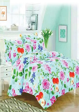 Multi color Bedroom . Celina Home Textiles 3 In 1 Single Cotton Bed Sheet Set -