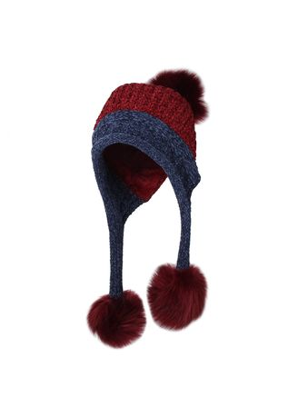 . Fleece Lining Thick Cable Knit Beanie Hat Pom Earflaps 2 -