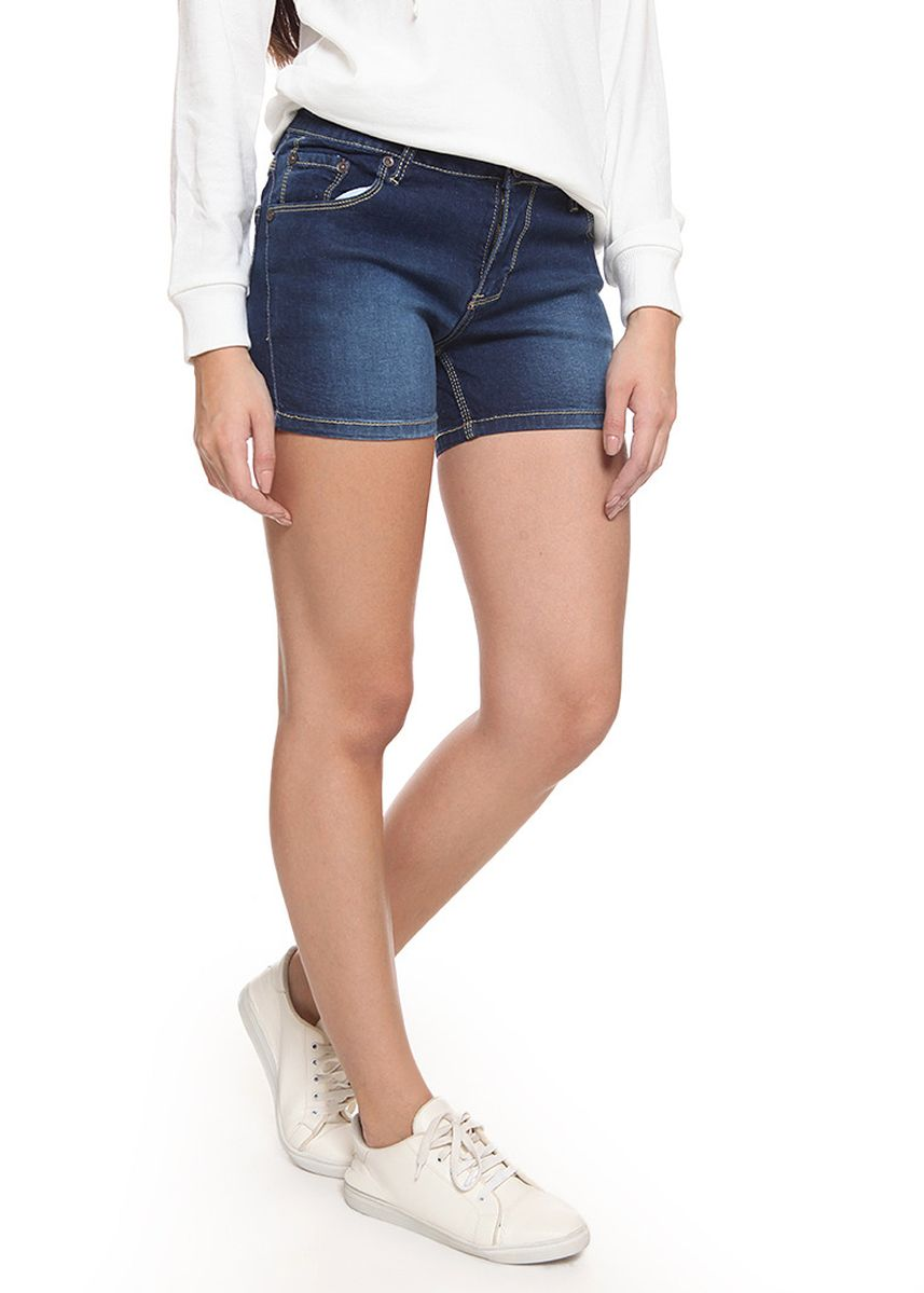 Blue color Shorts . 2Nd RED Jeans Hot Pants Basic Island Blue -