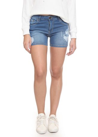 Light Blue color Shorts . 2Nd RED Ripped Jeans Hot Pants Basic Light Blue -