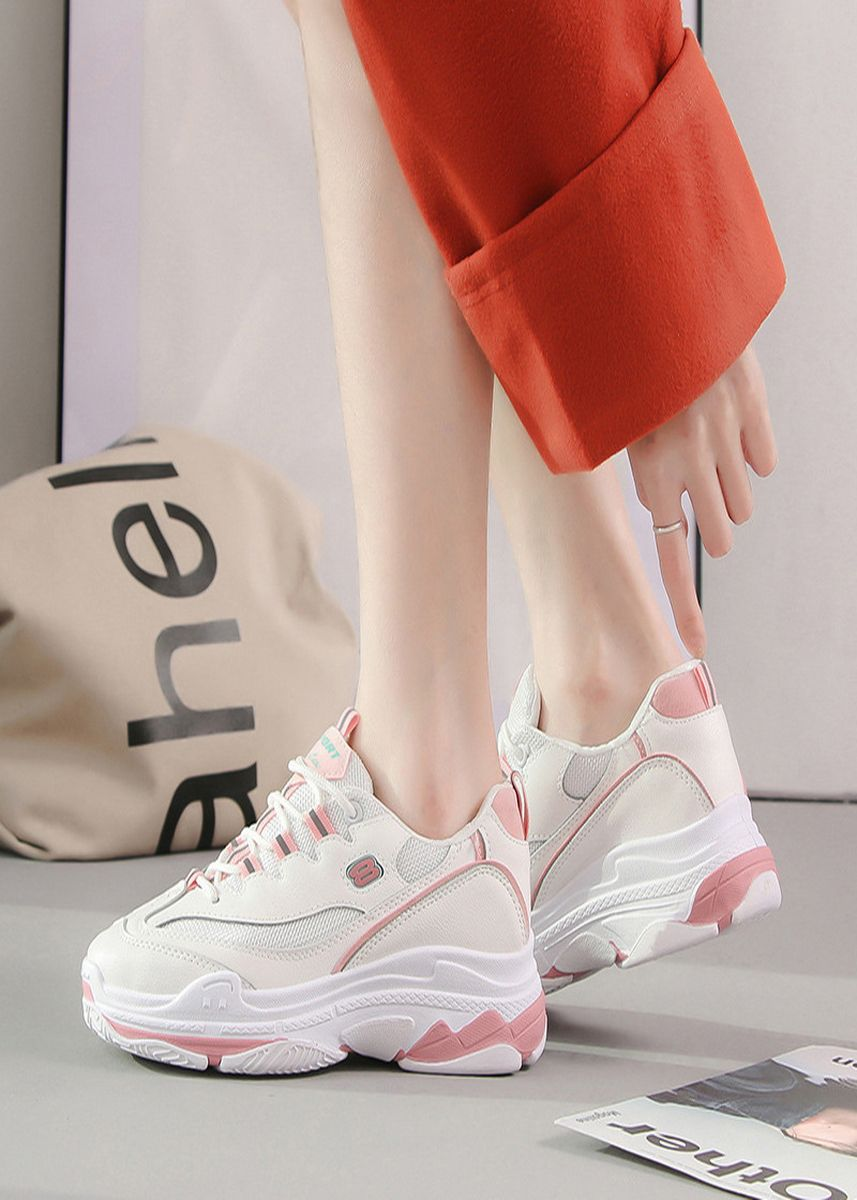 Pink color Casual Shoes . Torre Shoes Harajuku Sneakers Ins Super Fire -