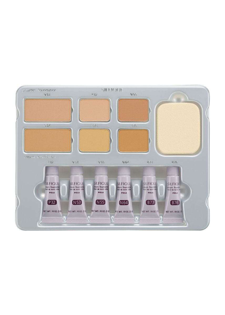 No Color color Set & Palette . Pola Silfique Foundation Palette -