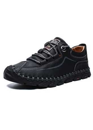 Black color Casual Shoes . Men's Weekend Outdoor Hiking Loafer -
