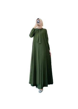 Green color Dresses . Maxi Paulina -