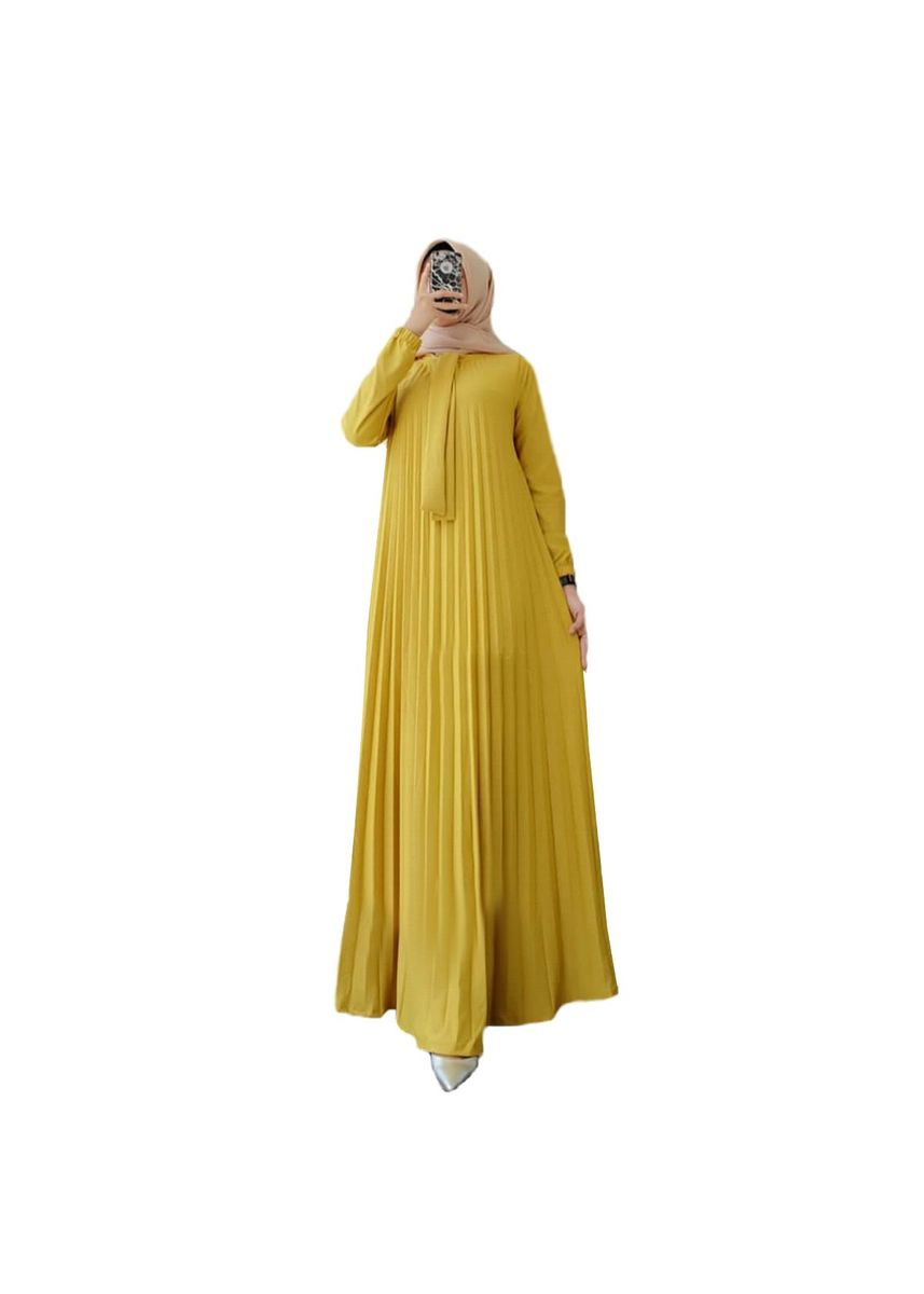 Yellow color Dresses . Maxi Paulina -