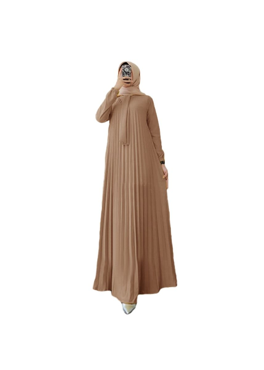 Beige color Dresses . Maxi Paulina -