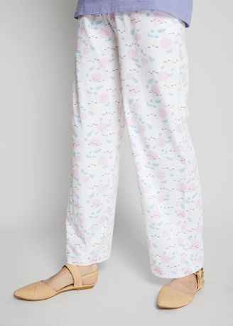 White color Pyjamas . Official Disney's Frozen Printed Pyjamas with Elasticated Waistband -
