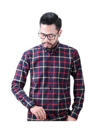 Multi color Kemeja Kasual . Elevant-Flannel Cred -