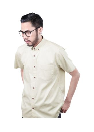 Beige color Casual Shirts . Elevant Shirt Flax -