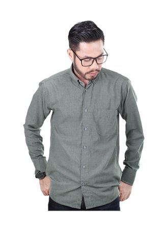 Green color Casual Shirts . Elevant Shirt Forest Green -