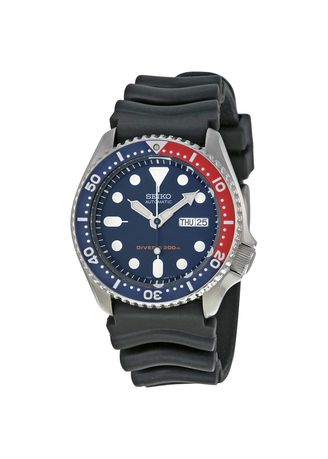 ดำ color อนาล็อก . Seiko Automatic Diver' 200M Men's Watch SKX009K1  -