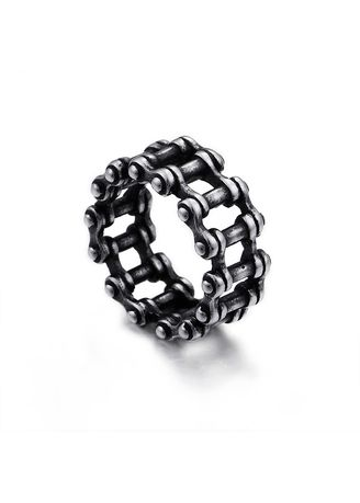 Silver color Rings . Men's Personality Bicycle Chain Ring -