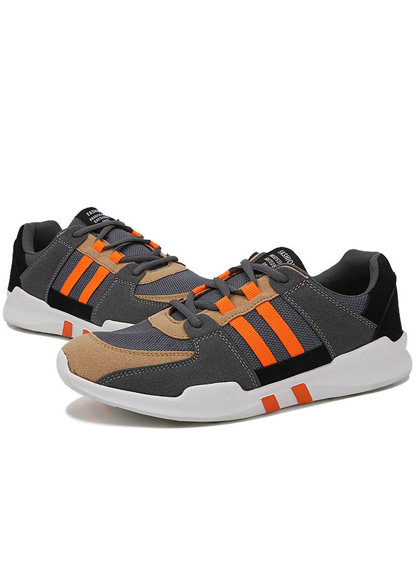 ส้ม color รองเท้ากีฬา . Sports Outdoor Soft Bottom Breathable Low-top Casual Shoes -