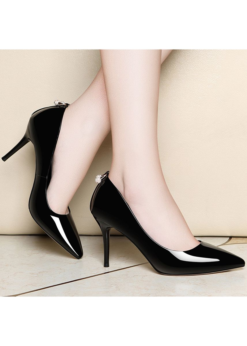 Black color Heels . European Fashion Stiletto Heels Shallow -