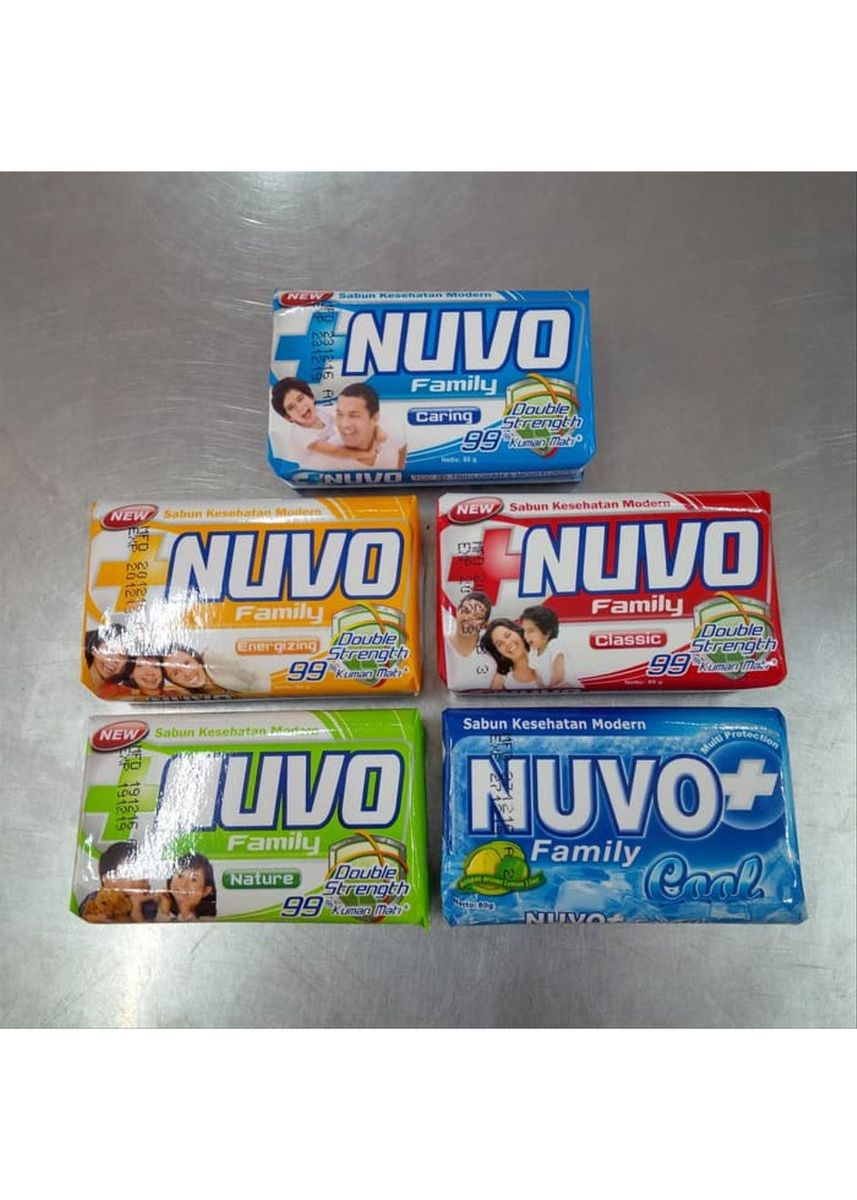 No Color color Washing & Cleaning . NUVO BAR SOAP MIX VARIANT [DUS] -