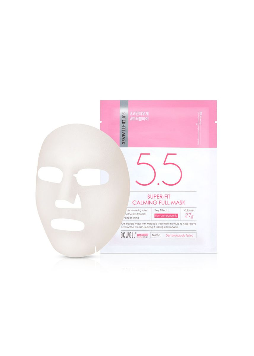 No Color color Masks . Acwell Super-Fit Calming Full Mask (5pc)  -