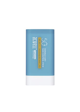 Blue color Face . Acwell Dermild Airy Sun Control Stick SPF 50+ PA++++ -