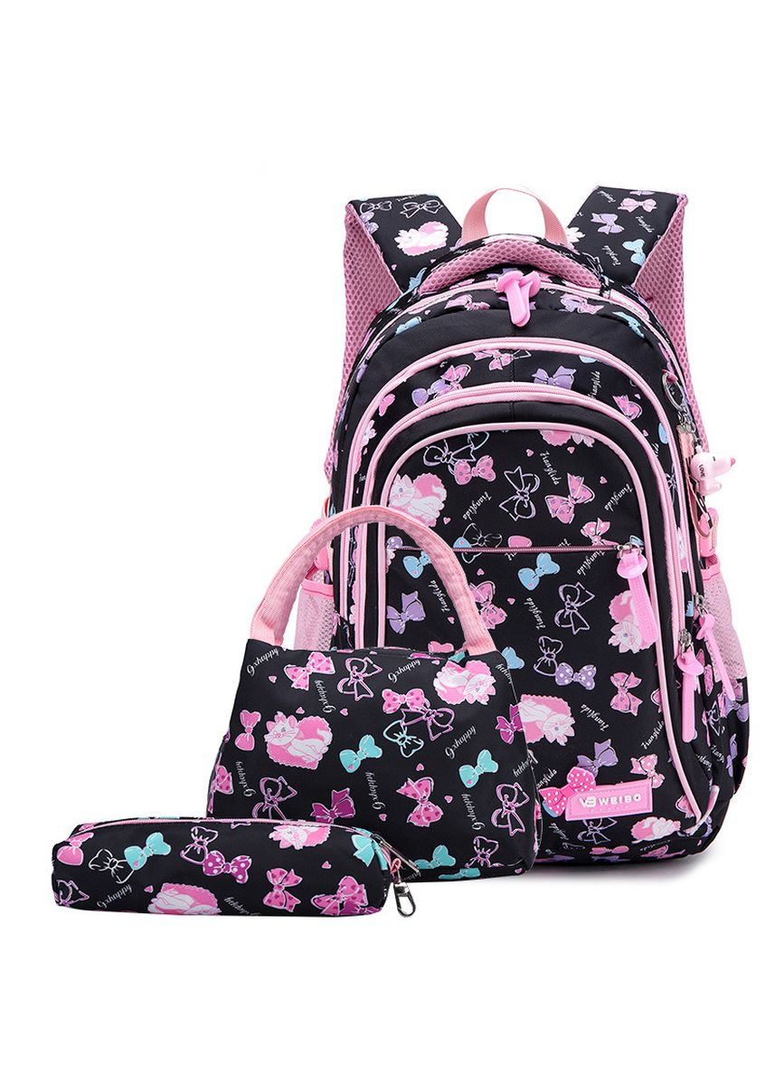 Black color Bags . New Elementary And Middle School Schoolbag Light Waterproof -