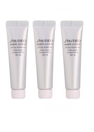 No Color color Whitening & Brightening . Shiseido White Lucent All Day Brightener (Sunblock) SPF 36 15ml x 3 -