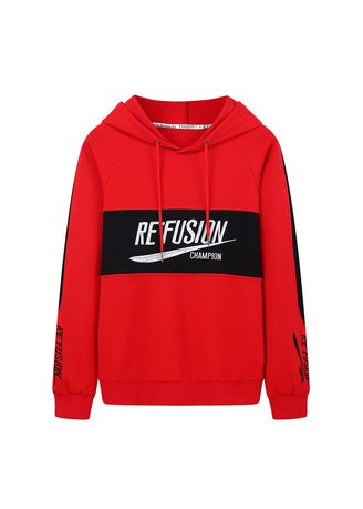 Red color Sweatshirts . Color matching and fashion Sweatshirt -