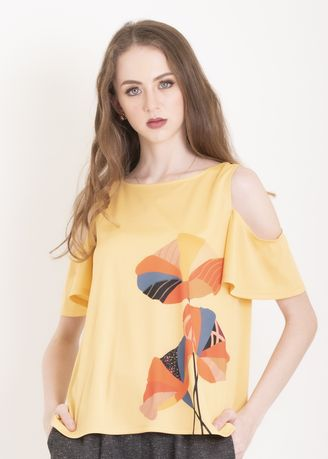 Gold color Tops and Tunics . Chain Apparel Alice Blouse -